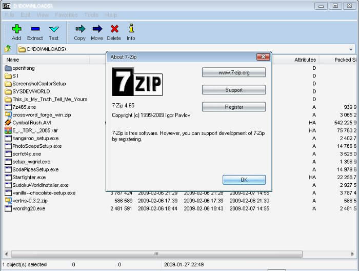 7Zip Screenshot 1